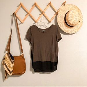 Express color block tee